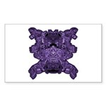 Purple Skull Sticker (Rectangle 10 pk)