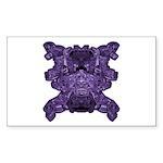 Purple Skull Sticker (Rectangle 50 pk)