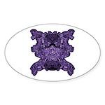 Purple Skull Sticker (Oval 50 pk)
