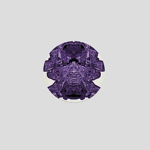 Purple Skull Mini Button