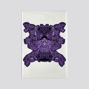 Purple Skull Rectangle Magnet