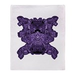 Purple Skull Throw Blanket