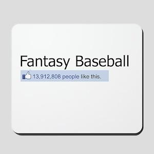 Like Fantasy Baseball Mousepad