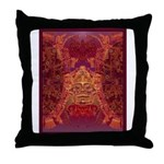 Purple Skull Throw Pillow