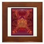 Purple Skull Framed Tile