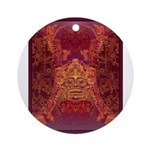 Purple Skull Ornament (Round)