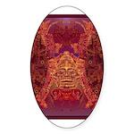 Purple Skull Sticker (Oval 10 pk)