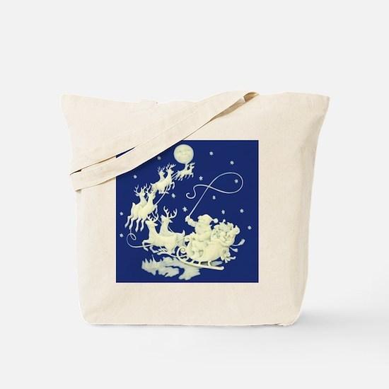 Santa Claus Sky Tote Bag