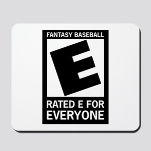 Fantasy Baseball Rated E Mousepad