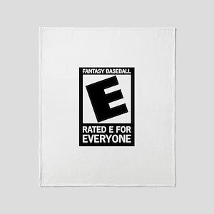 Fantasy Baseball Rated E Throw Blanket
