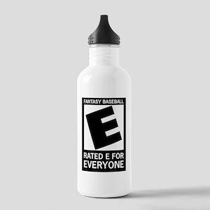 Fantasy Baseball Rated E Stainless Water Bottle 1.