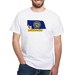 ILY Nebraska White T-Shirt