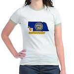 ILY Nebraska Jr. Ringer T-Shirt