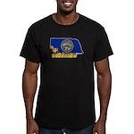 ILY Nebraska Men's Fitted T-Shirt (dark)