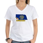 ILY Nebraska Women's V-Neck T-Shirt