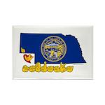 ILY Nebraska Rectangle Magnet (100 pack)