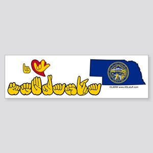 ILY Nebraska Sticker (Bumper)