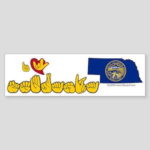 ILY Nebraska Sticker (Bumper)