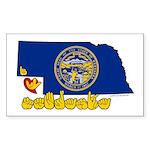 ILY Nebraska Sticker (Rectangle 50 pk)