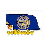 ILY Nebraska Postcards (Package of 8)