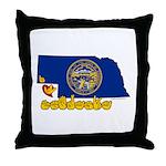 ILY Nebraska Throw Pillow