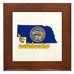 ILY Nebraska Framed Tile