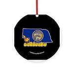ILY Nebraska Ornament (Round)