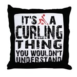 Curling Thing Throw Pillow