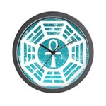 Dharma Blue Ankh Wall Clock