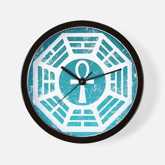 Dharma Blue Ankh Wall Clock