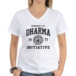 Dharma Faded Women's V-Neck T-Shirt