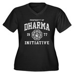 Dharma Faded Women's Plus Size V-Neck Dark T-Shirt