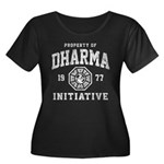 Dharma Faded Women's Plus Size Scoop Neck Dark T-S