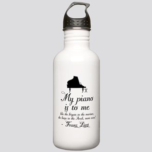 Franz Liszt Piano Quote Stainless Water Bottle 1.0