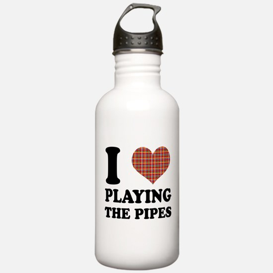 Cute I love bagpipes Water Bottle
