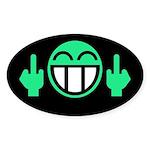 Flipoff guy Oval Sticker