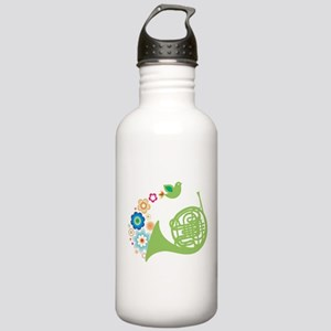 Retro Flower French Horn Stainless Water Bottle 1.