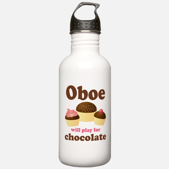 Chocolate Oboe Sports Water Bottle