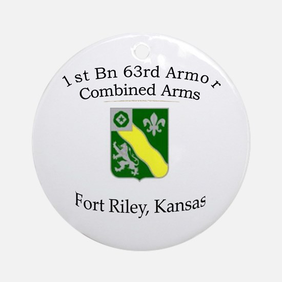 1st Bn 63rd Armor Ornament (Round)