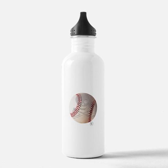 Skull & Crossbones Baseball Water Bottle