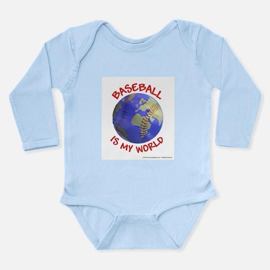 Baseball is my World Long Sleeve Infant Bodysuit