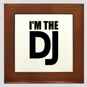 I'm the DJ Framed Tile