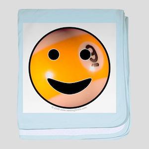 9-ball Smiley baby blanket