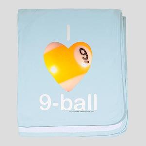 I Love 9-ball baby blanket