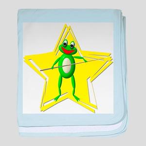 Pool Frog Cartoon baby blanket