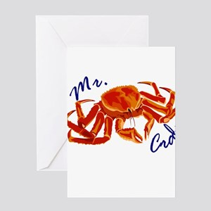 Red Crab Greeting Cards