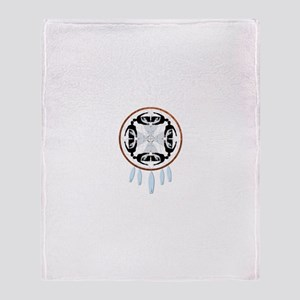 Surfing Dreamcatcher Throw Blanket