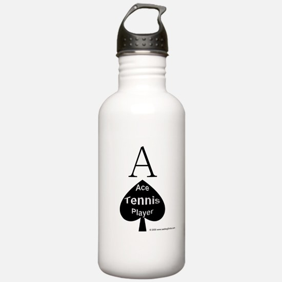Ace Tennis Player Water Bottle
