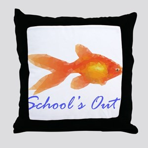 Schools out Throw Pillow