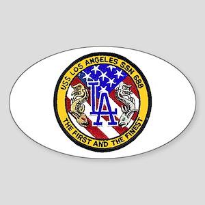 USS Los Angeles SSN 688 Oval Sticker